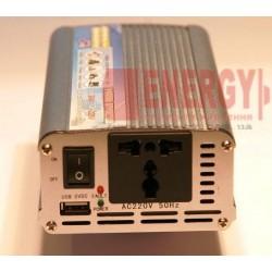 Преобразователь напряжения C12V в 220V  мощностью 1000Watt. Имеется выход USB - 5V.